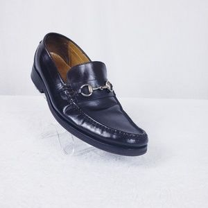 Cole Haan Brown Leather Horsebit Loafers